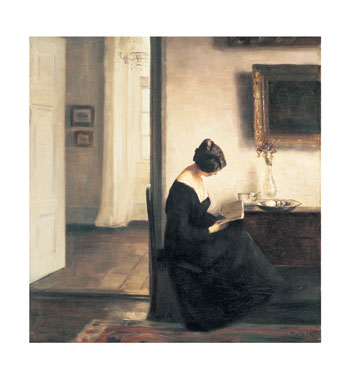 Woman-Reading-in-an-Interior