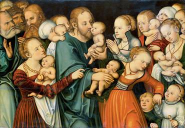 Cranach Kristus siunaa lapsia