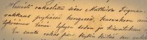 Erkki Antin kirje M. Fogmanille