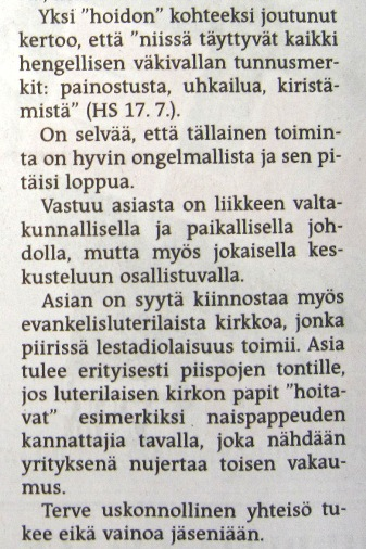 Helsingin Sanomat 27.7.2011.