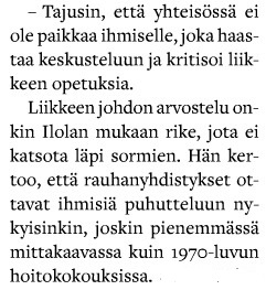 Blogisti Vuokko Ilola Vantaan Lauri -lehden haastattelussa.