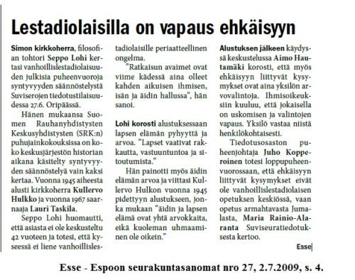Seppo_Lohi_Esse_2009_ehkaisy
