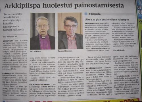 Helsingin Sanomat 19.1.2012.
